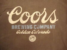 Coors Brewing Company Golden Colorado Beer Brown T Shirt L