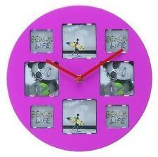 Wanted Photo Frame Pink Wall Clock (WA0433PI)