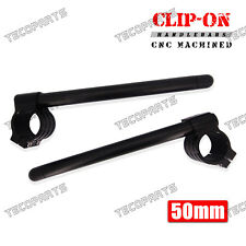 Black 50mm Clip-On HandleBar Kawasaki ZX9R 00-03 ZR1000 03-09 ZR1200 ZX12R 00-05