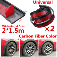 2X4.5cm/1.5M  Carbon Fiber Car Fender Flare Wheel Eyebrow Trim Protector Stripe