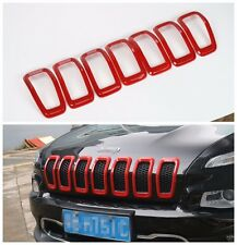 FitFor Jeep Cherokee 2014 - 2017 Front Grille Inserts Mesh Grill Accessories-Red