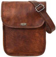 """11"""" Bag Full Grain Leather Messenger Shoulder Men's Satchel Laptop Briefcase"""