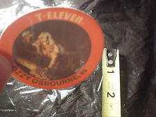 Ozzy Osbourne Black Sabbath RaRe 1985 7-11 Vintage 3D Lenticular Coin Disk