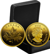2019 Bouquet of Maple Leaves 25cents 0.5grams Pure Gold Proof Canada Coin