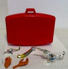 Plastic figures-Ideal toy Co. J.J. Armes Red Briefcase with some accessories