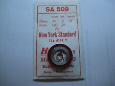 "NEW YORK STANDARD MAIN SPRING #4144  /  T-END  / 12s  "" WHITE ALLOY """