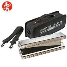 """Hohner Orchestra Series BASS 78 """"The Big Bass"""" Chromatic Harmonica with Case"""