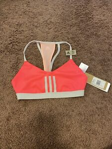 ADIDAS ALL ME 3 NEON SPORTS BRA MESH LIGHT SUPPORTS RACERBACK S NEW $35