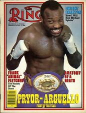 AARON PRYOR/ALEXIS ARGUELLO Ring Boxing Magazine January 1983 BRAXTON/SPINKS