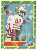 JERRY RICE 1986 Topps #1 Draft Pick Rookie Card RC San Francisco 49ers REPRINT