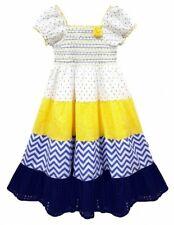 Niñas Niños Niñas en niveles de impresión floral hermoso Limón gitana Vestido de la edad de 3-11 años