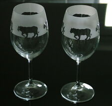 Tiger Wine Glasses by Glass in the Forest.
