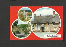 Colourmaster Multi View Colour  Postcard Burton Bradstock Dorset posted