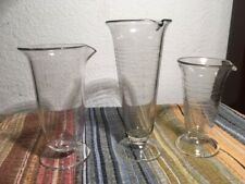 New listing Vintage (3) Footed Measuring Beakers Pharmacy Rx Apothecary
