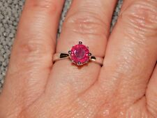 AFRICAN RUBY ROUND SOLITAIRE RING-SIZE R-1.25 CARATS