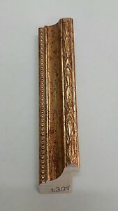 cornice in legno abete oro a foglia  confezionate  aste per cornici