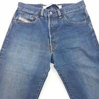 Diesel KEETAR Mens Vintage Jeans W30 L32 Blue Regular Fit Straight High Rise