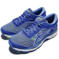 Asics Gel-Kayano 24 D Wide Blue White Women Running Shoes Sneakers T7A5N-4840