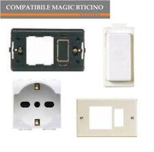 PRESA SCHUKO A5440/16 SUPPORTO PLACCA COMPATIBILE MAGIC BTICINO