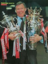 """Manchester United Alex Ferguson hand signed 10""""x8"""" picture"""