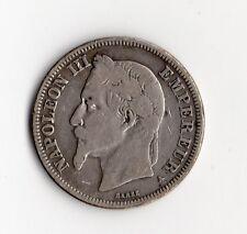 RARE MONNAIE DE 2 FRANCS NAPOLEON III TETE LAUREE ARGENT DE 1868 A @ PARIS @ TOP