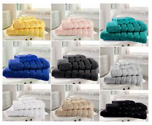 Kensington Stripe Towel Pack of 1/2 Soft Cotton Towels Bath Sheet Gym Sport New
