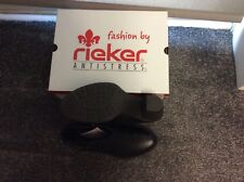 Ladies Rieker Boots, Style 55292-00, Black Leather, Size 41,New With Box.