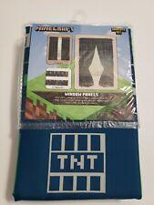 """Minecraft Curtain Boys Room Curtains  Window Panels &Tiebacks 82""""x63"""""""
