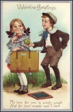 Brundage Valentine Tuck 103 Love to Love Kids Postcard
