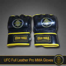 KRAV MAGA PRO UFC MMA LEATHER GLOVES XL EXTRA-LARGE - for Fighters & Warriors