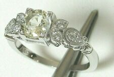 YELLOW SAPPHIRE & DIAMOND 14K WG RING!