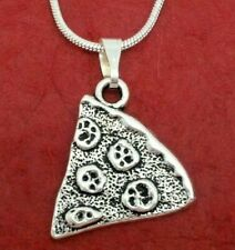 Pizza slice Necklace Best Friend charm pendant and chain share besties BFF