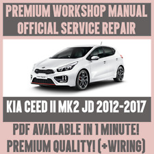 *WORKSHOP MANUAL SERVICE & REPAIR GUIDE for KIA CEED II JD 2012-2017 +WIRING