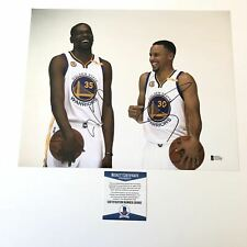 Stephen Curry Kevin Durant signed 11x14 photo BAS Beckett Golden State Warriors