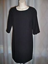 TALBOTS PETITES BLACK LINED 3/4 SLEEVE MUST HAVE DRESS 2P NEW OUTSTANDING