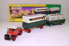 Corgi 16502 Scammell Highwayman Ballast + Closed Pole Trailer + Caravan in 1:50.