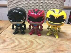 Funko Pop! Movies: Power Rangers - Yellow/Black/Red  Ranger Vinyl Figures