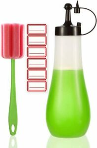 Condiment Bottle Sauce Squeeze Squirt Bottle for Kitchen Plastic 16 OZ