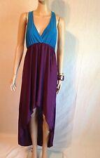 Ladies Sexy Open Back Asymmetrical Hem Summer Dress Beach Sun Dress Women Purple