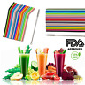 8-18PCS Silicone Drinking Straws & 2 Cleaners Reusable Party Milkshake Smoothies
