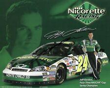 2006 Jeff Gordon Dupont Nicorette NASCAR Racing Signed Auto 8x10 Post Hero Card