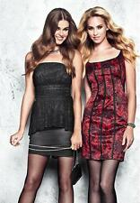NWT Guess Red Ginger Sleeveless  strikingly sexy lace-print dress size 2