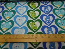 1 yard Camelot Care Bears Cool Hearts Fabric