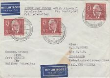 Free Berlin airmail cover 1960 via THAILAND RARE!! to NETHERLANDS NEW GUINEA