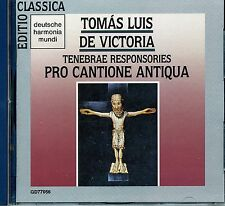VICTORIA TENEBRAE RESPONSORIES PRO CANTIONE ANTIQUA Bruno TURNER CD 1990 Germany