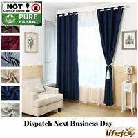 HIGH QUALITY BLOCKOUT BLACKOUT EYELET CURTAINS NAVY DARK BLUE BLACK DARKNESS