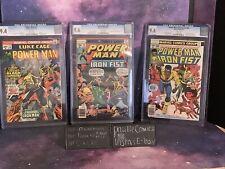 Power Man 17 48 50 CGC 9.4 9.6 X2 Marvel Comic 1st Team Up Iron Fist 1st PM  Lot