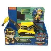 nickelodeon PAW Patrol Dog Rubble's Mission Bulldozer Model Car Vehicles Kid Toy