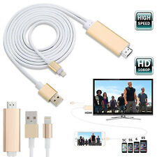 8 pin 2M Apple Lightning to HDMI HDTV AV Cable Adapter for iPhone 6 6S 5S 5 UK