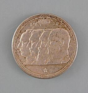 8608007 Silber-Münze 100 Francs Belgien 1950